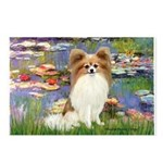 Lilies & fawn Papillon Postcards (Package of 8)