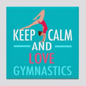 Love Gymnastics Tile Coaster