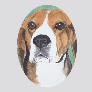 Beagle Oval Ornament