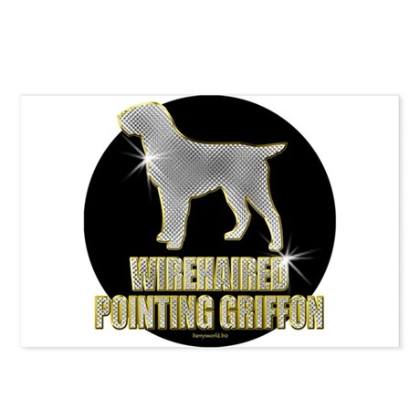 Bling Griffon Postcards (Package of 8)
