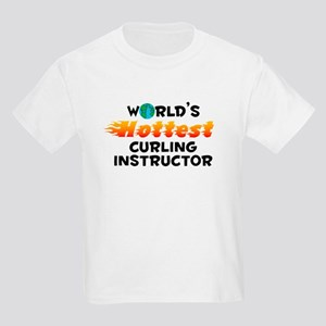World's Hottest Curli.. (C) Kids Light T-Shirt