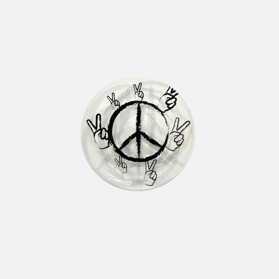 Peace Symbol & Sign Mini Button