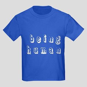 """""""Being a Human"""" Kids Dark T-Shirt"""