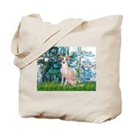 Lilies / Ital Greyhound Tote Bag
