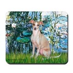 Lilies / Ital Greyhound Mousepad