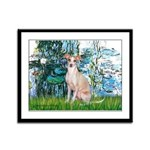 Lilies / Ital Greyhound Framed Panel Print