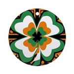 GRN-WHT-ORG SHAMROCKS 1 Ornament (Round)