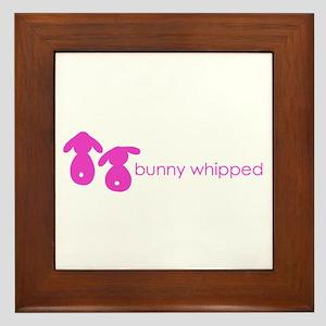 bunny whipped pink Framed Tile