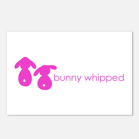 bunny whipped pink Postcards (Package of 8)