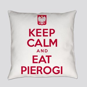 Keep Calm Eat Pierogi Everyday Pillow
