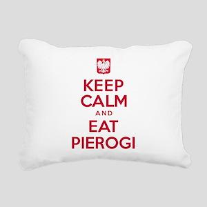 Keep Calm Eat Pierogi Rectangular Canvas Pillow
