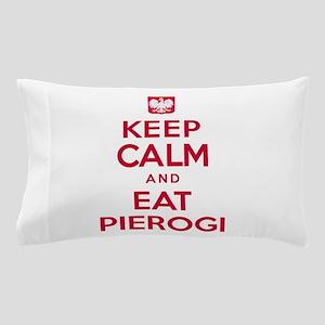 Keep Calm Eat Pierogi Pillow Case