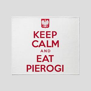 Keep Calm Eat Pierogi Throw Blanket