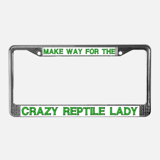 Crazy Reptile Lady License Plate Frames