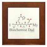 I Love My Biochemist Dad Framed Tile