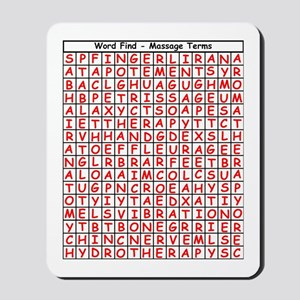 Massage Word Find Mousepad