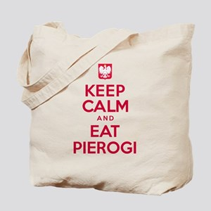 Keep Calm Eat Pierogi Tote Bag