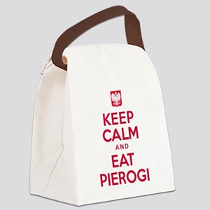 Keep Calm Eat Pierogi Canvas Lunch Bag