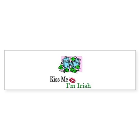 Kiss Me, I'm Irish Bumper Sticker