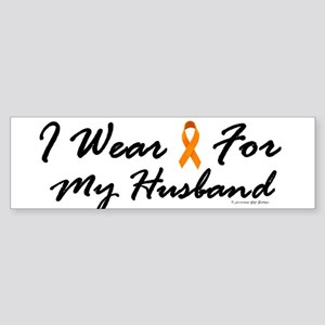 I Wear Orange For My Husband 1 Bumper Sticker