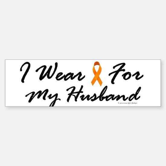 I Wear Orange For My Husband 1 Bumper Bumper Bumper Sticker