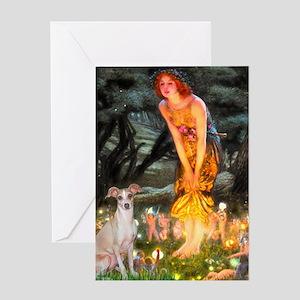 Midsummer's / Ital Greyhound Greeting Card