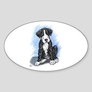N Mantlepup Great Dane Oval Sticker