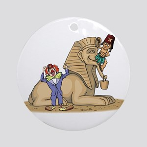 The Shrine Clown and the Sphinx Ornament (Round)