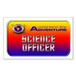 Science Officer Rectangle Sticker