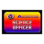 Science Officer Dark Rectangle Sticker