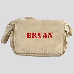 Bryan Retro Stencil Design Messenger Bag