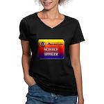 Science Officer Women's V-Neck Dark T-Shirt