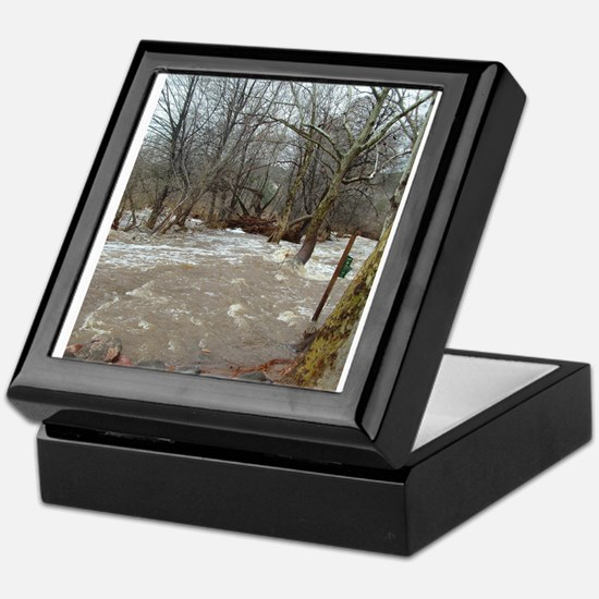 Flooding after the storm Keepsake Box