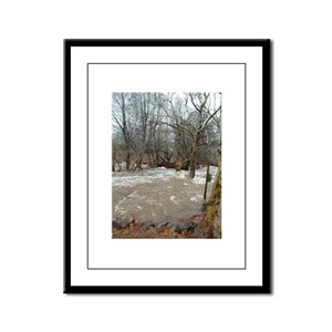 Flooding after the storm Framed Panel Print