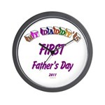 First Father's Day Wall Clock