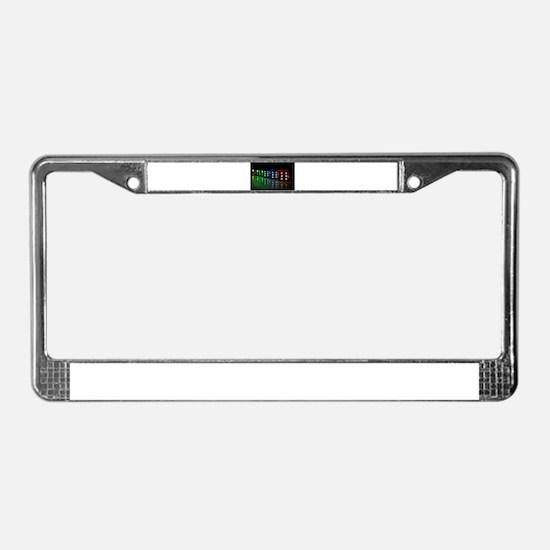 Neon Black Light Die License Plate Frame