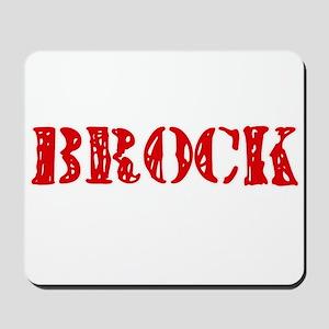 Brock Retro Stencil Design Mousepad