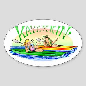 KaYakkin' Sticker (Oval)