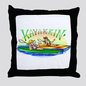 KaYakkin' Throw Pillow