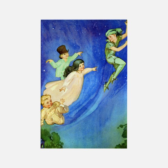 PETER PAN - FLYING Rectangle Magnet