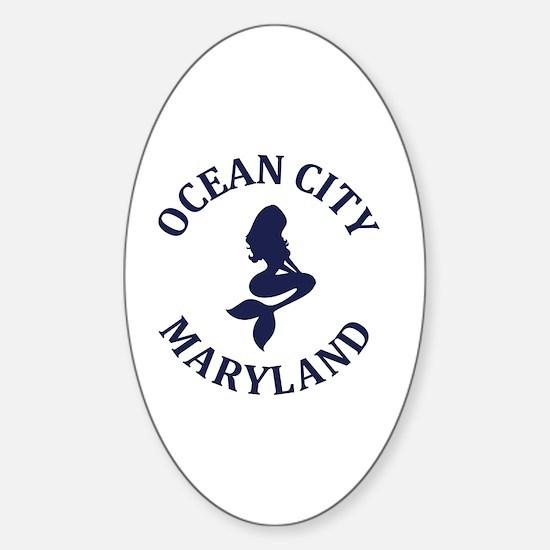 Unique Ocean city beach house Sticker (Oval)