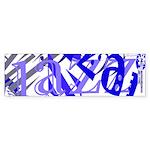 Jazz Blue Bumper Sticker