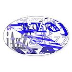 Jazz Blue Oval Sticker