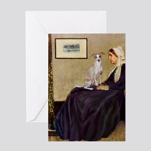 Whistler's / Ital Greyhound Greeting Card