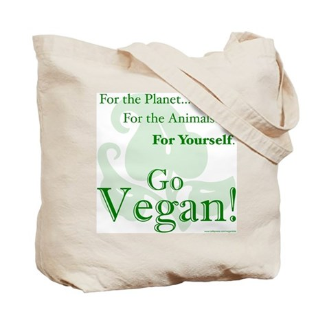 Vegan Tote Grocery Shopping Bag (Double-Sided)