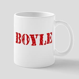 Boyle Retro Stencil Design Mugs
