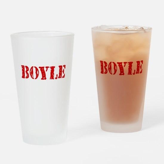 Boyle Retro Stencil Design Drinking Glass