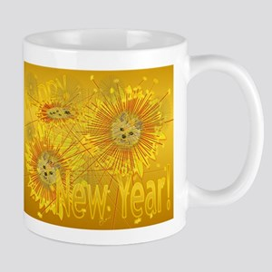 Starry New Year Bliss-Gold Mugs