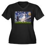 Starry Night / Ital Greyhound Women's Plus Size V-