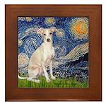 Starry Night / Ital Greyhound Framed Tile